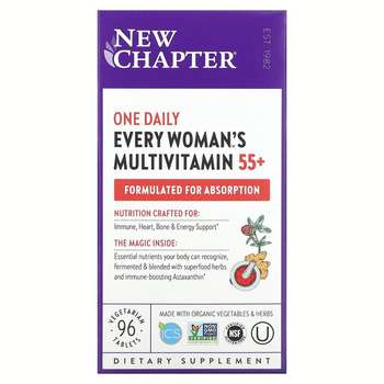 Купить New Chapter 55+ Every Woman's One Daily Multi 96 Vegetarian Ta...