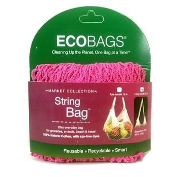 Купить Эко-сумка для продуктов до 18 кг с длинной ручкой цвет фуксия ...