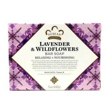 Купить Shea Butter Soap With Lavender Wildflowers 141 g (Нубіан Херіт...