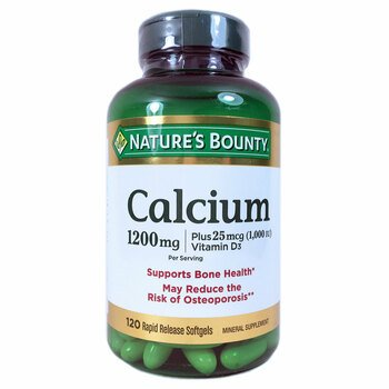 Купить Nature's Bounty Calcium Plus Vitamin D3 1200 mg 120 Rapid Rele...