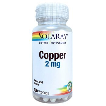 Купить Solaray Copper 2 mg 100 VegCaps