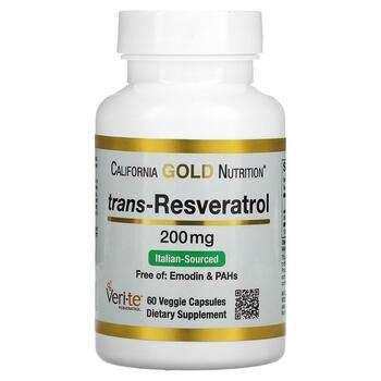 Купить California Gold Nutrition Trans-Resveratrol Italian Sourced 20...