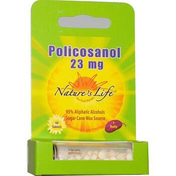Купить Policosanol 23 mg 60 Tablets (Nature's Life Поликозанол 23...