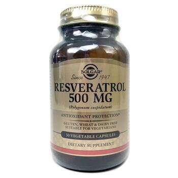 Купить Solgar Resveratrol 500 mg 30 Vegetable Capsules