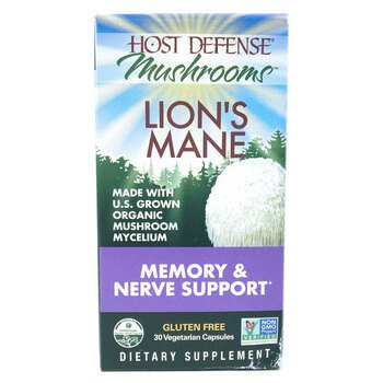 Купить Host Defense Mushrooms Lion's Mane 30 Capsules