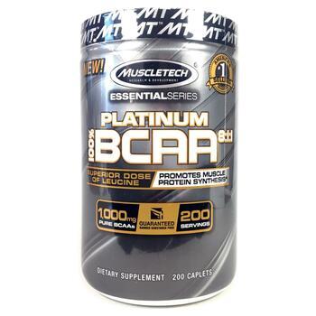 Купить 100% Platinum BCAA 8:1:1 1000 mg 200 Caplets ( 100% Platinum B...