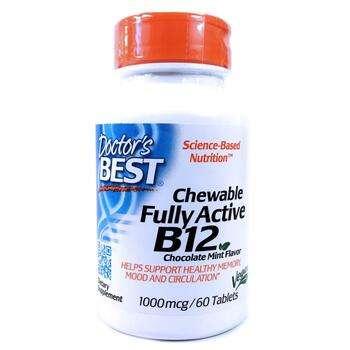 Купить Chewable Fully Active B12 Chocolate Mint 1000 mcg 60 Tablets