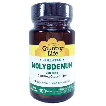 Купить Chelated Molybdenum 150 mcg 100 Tablets (Хелатний молібден 150...