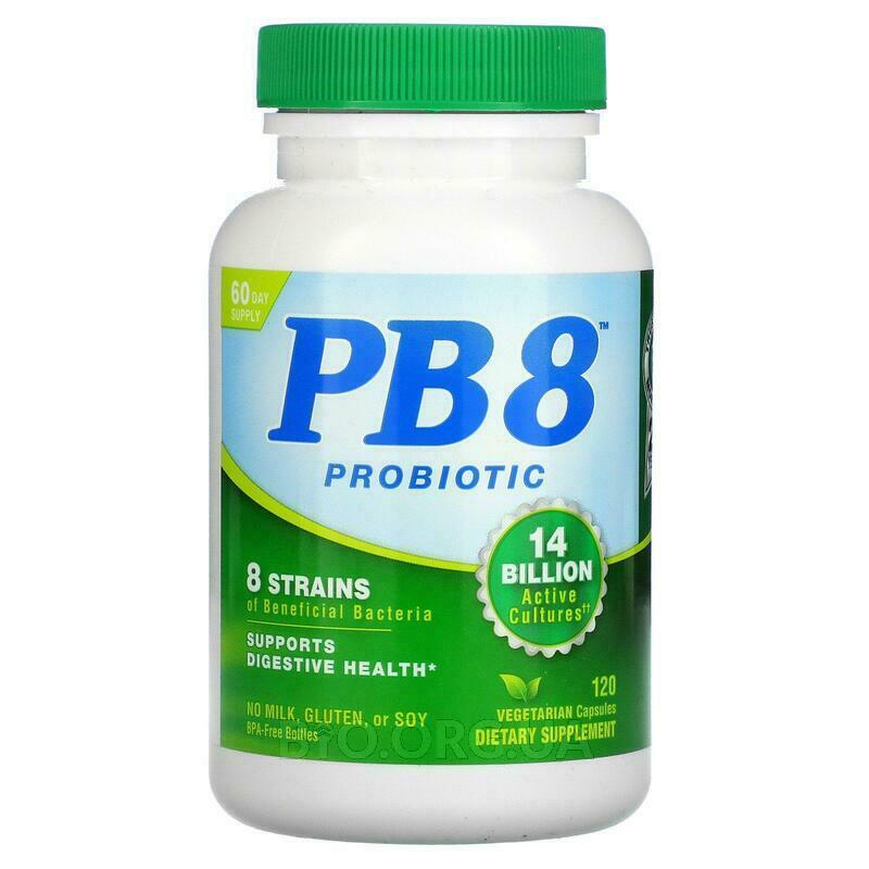 PB8 с лактобациллами и бифидобактериями 120 капсул фото товара