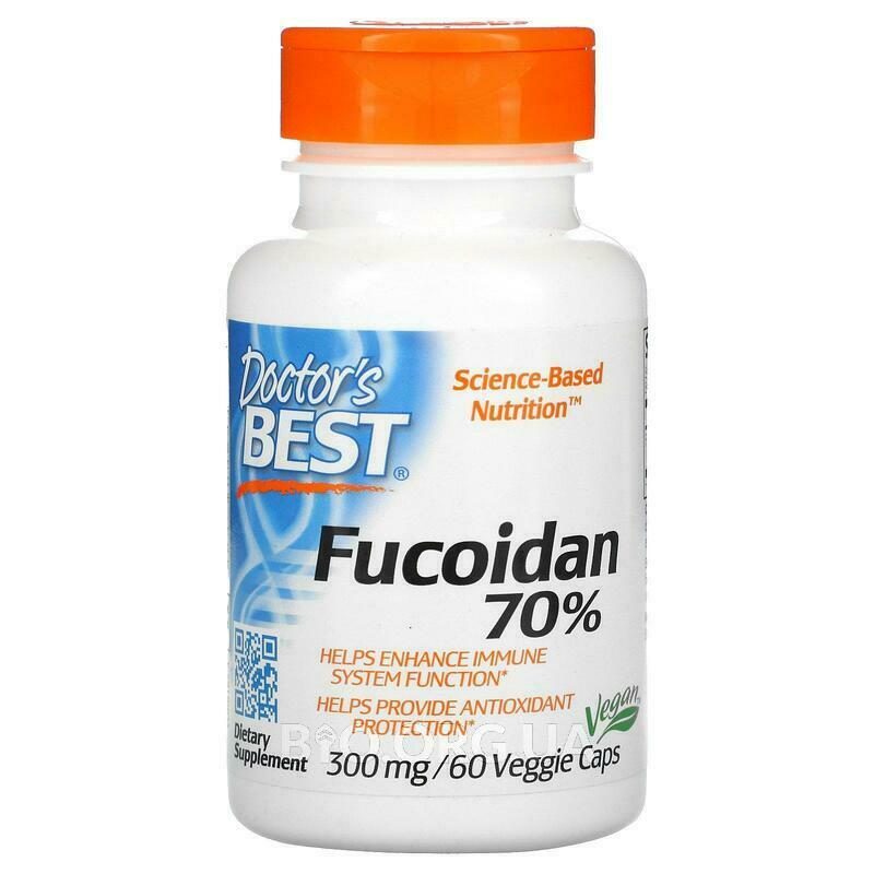 Doctor's Best Fucoidan 70% 300 mg 60 Veggie Caps