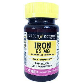 Купить Iron Sugar Free 65 mg 100 Tablets ( Залізо без цукру, 65 мг, 1...