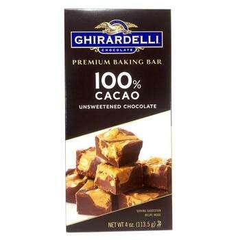Купить Ghirardelli Premium Baking Bar 100% Cacao Unsweetened Chocolat...