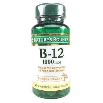 Купить Nature's Bounty B-12 1000 mcg 200 Coated Tablets