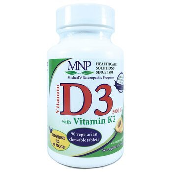 Купить Vitamin D3 & K2 5000 IU 90 Tablets