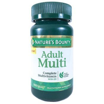 Купить Nature's Bounty Adult Multi Complete Multivitamin with D3 100 ...