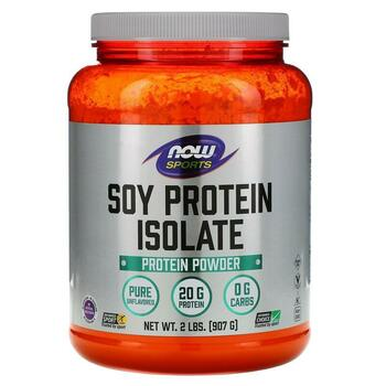 Купить Now Foods Sports Soy Protein Isolate Natural Unflavored 907 g