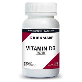 Купить Kirkman Vitamin D-3 400 IU Hypoallergenic 120 Capsules