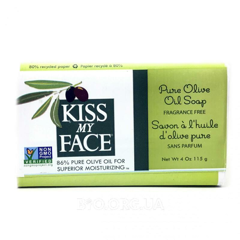 Kiss My Face Pure Olive Oil Bar Soap Fragrance Free 115 g