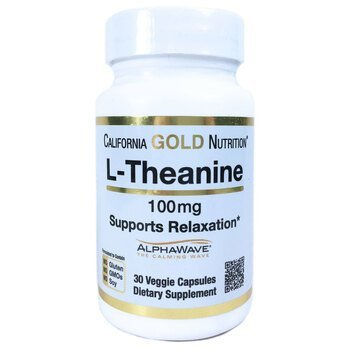 Купить California Gold Nutrition L-Theanine Supports Relaxation Alpha...