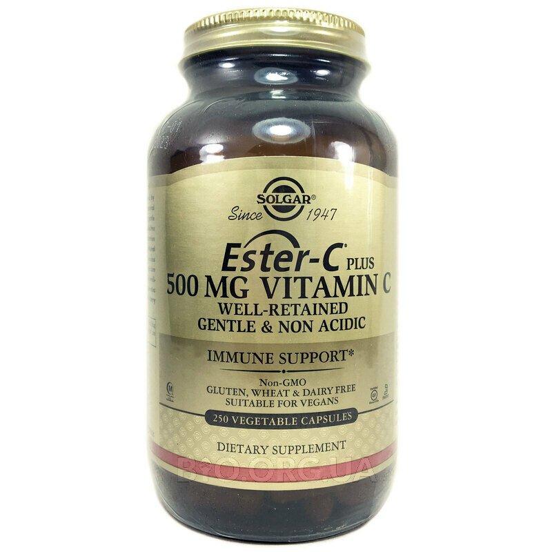 Ester-C Plus 500 мг 250 капсул фото товара