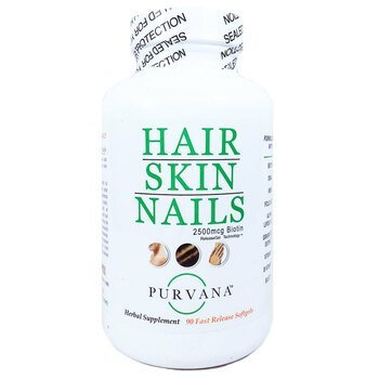 Купить Purvana Hair Skin Nails 2500 mcg Biotin 90 Soft Gels