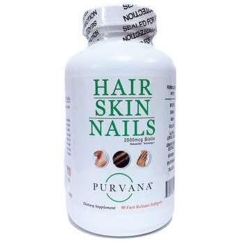 Купить Wellgenix Health Purvana Hair Skin Nails 2500 mcg Biotin 90 So...