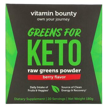Купить Greens For Keto Raw Greens Powder Berry 180 g ( Greens For Ket...