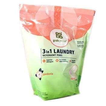 Купить Grab Green 3 in 1 Laundry Detergent Pods Gardenia 60 Loads