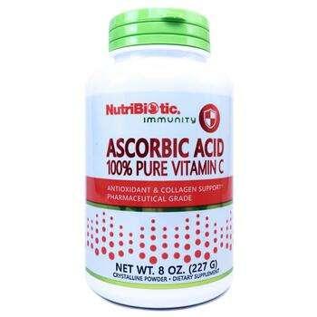 Купить NutriBiotic Ascorbic Acid 100 Pure Vitamin C Crystalline Powde...