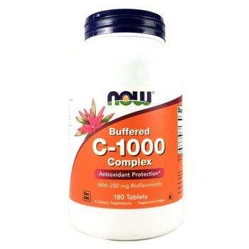 Купить Нау Фудс буферизованный витамин с C-1000 Комплекс 180 таблеток