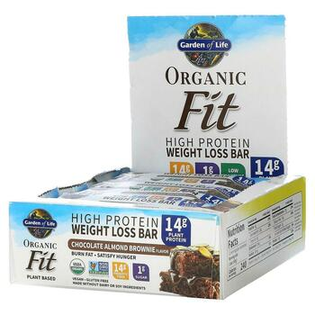 Купить Garden of Life Organic Fit High Protein Weight Loss Bar Chocol...