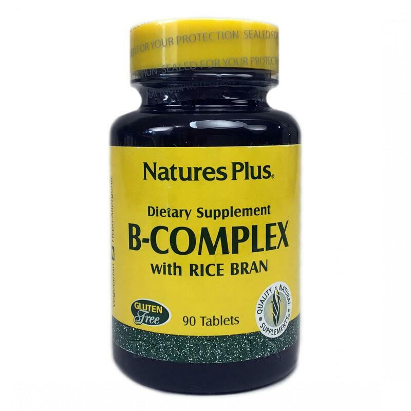 Natures Plus B Complex with Rice Bran 90 Tablets