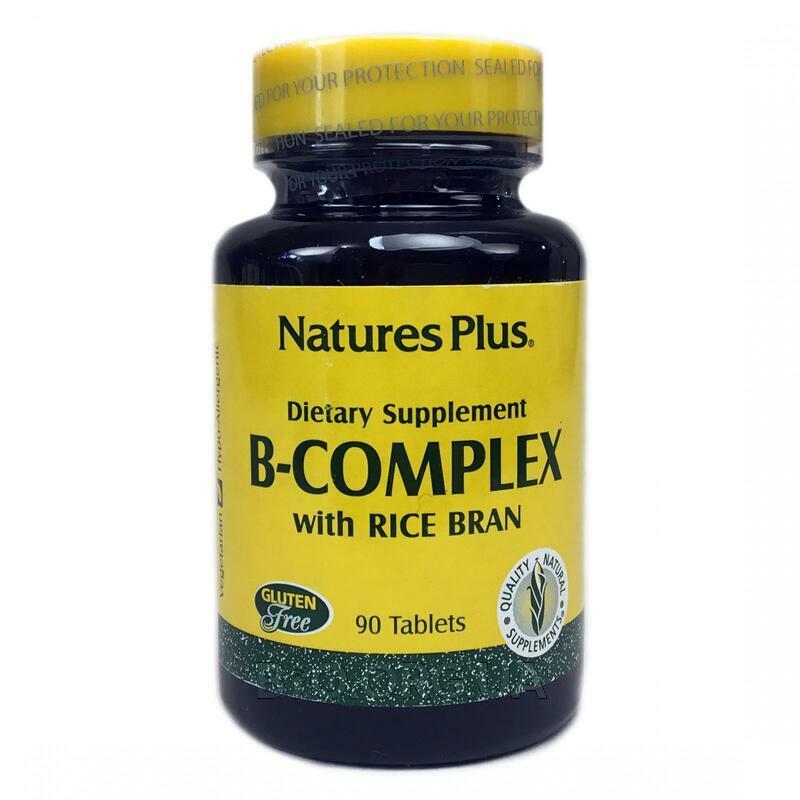 Нейчералс Плюс B комплекс из рисовых отрубей 90 таблеток фото товара