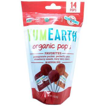 Купить YumEarth Organic Pops Assorted Flavors 14 Lollipops 85 g