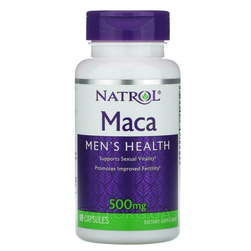 Натрол Мака для мужчин 500 мг 60 капсул фото товара
