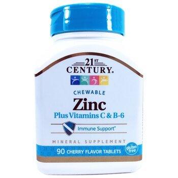 Купить Zinc+ Vitamin C & B-6 Cherry 90 Tablets (Цинк, вітамін C і B6 ...