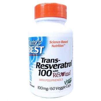 Купить Doctor's Best Best trans Resveratrol 100 100 mg 60 Veggie Caps