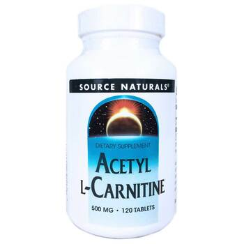 Купить Source Naturals Acetyl L-Carnitine 500 mg 120 Tablets