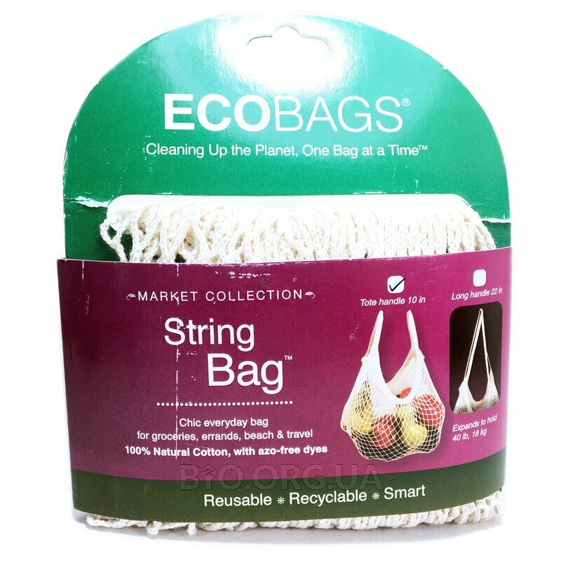 ECOBAGS Market Collection String Bag Tote Handle 10 in Natural 1 Bag