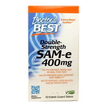 Купить Doctor's Best SAM-e 400 mg Double Strength 30 Enteric Coated T...