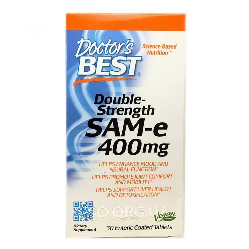 SAM-e S Аденозил Метионин 400 мг 30 таблеток фото товара