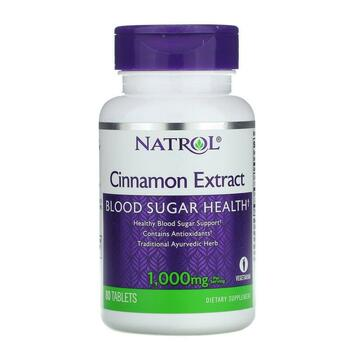 Купить Cinnamon Extract 1000 mg 80 Tablets (Натрол экстракт корицы 10...