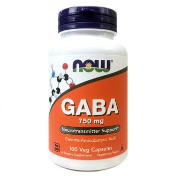 Купить GABA 750 mg 100 Veg Capsules ( Габа 750 мг 100 капсул)