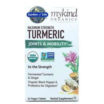 Купить Garden of Life MyKind Organics Maximum Strength Turmeric 30 Ve...