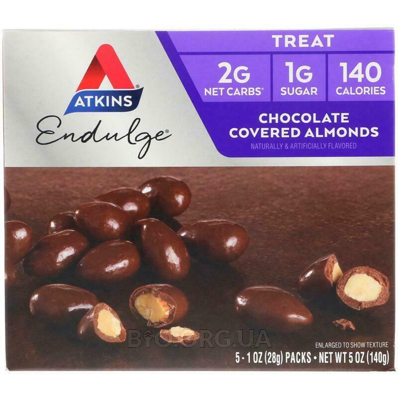Аткинс Миндаль в шоколаде 5 пакетов 28 г Каждый фото товара