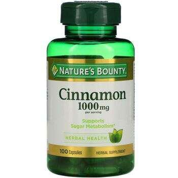 Купить Cinnamon 1000 mg 100 Capsules (Нейчес Баунти Cinnamon 1000 mg ...