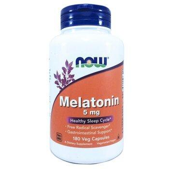 Купить Now Foods Melatonin 5 mg 180 Veg Capsules