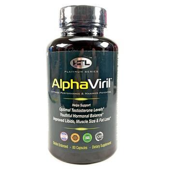 Купить AlphaViril Inc. Alpha Viril Testosterone Booster 80 Capsules