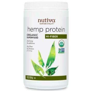Купить Organic Superfood Hemp Protein Hi Fiber 454 g (Нутіва органічн...