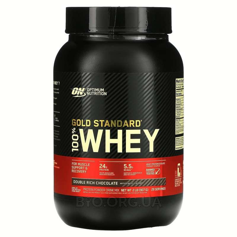 Оптимум Нутришн сывороточный протеин со вкусом шоколада 909 гр фото товара